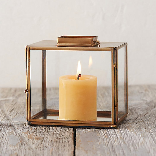Brass Rectangle Miniature Lantern