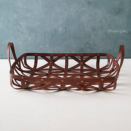 Woven Leather Tray