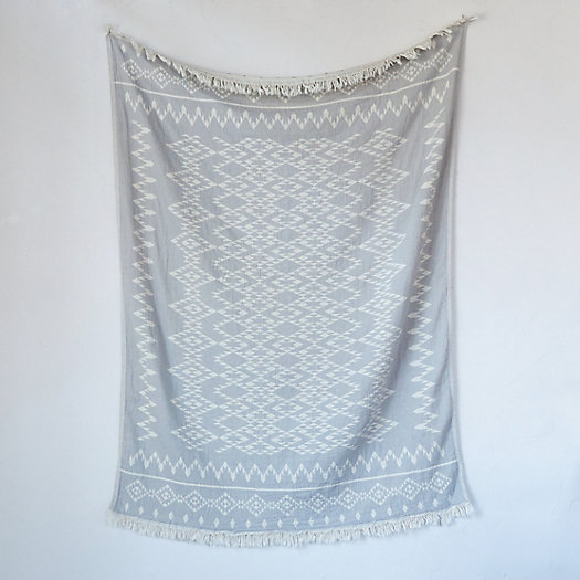 Turkish Cotton Diamond Throw