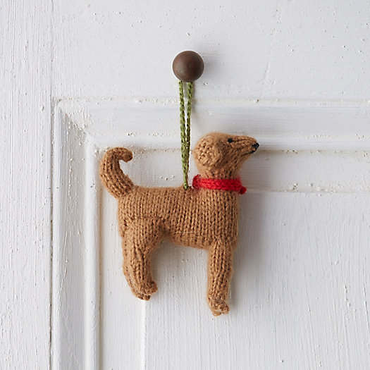 Knitted Yellow Lab Ornament