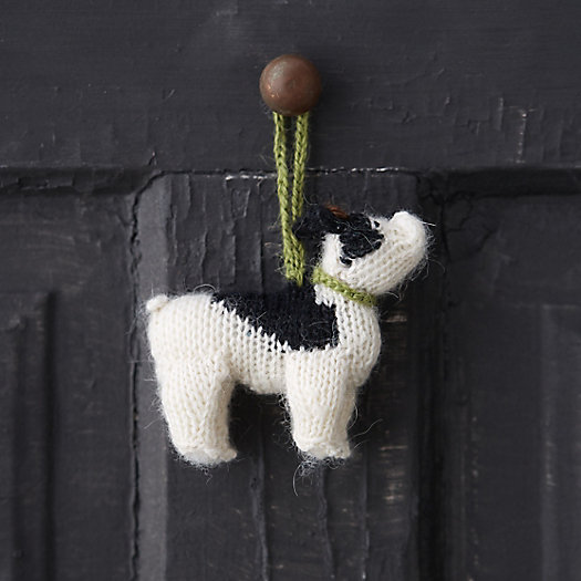 Knitted French Bulldog Ornament