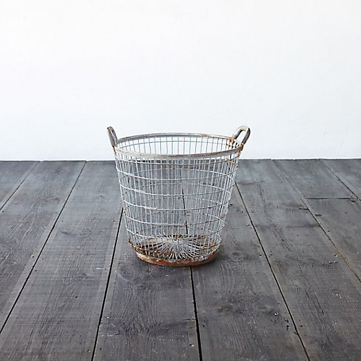 Antique Zinc Potato Basket