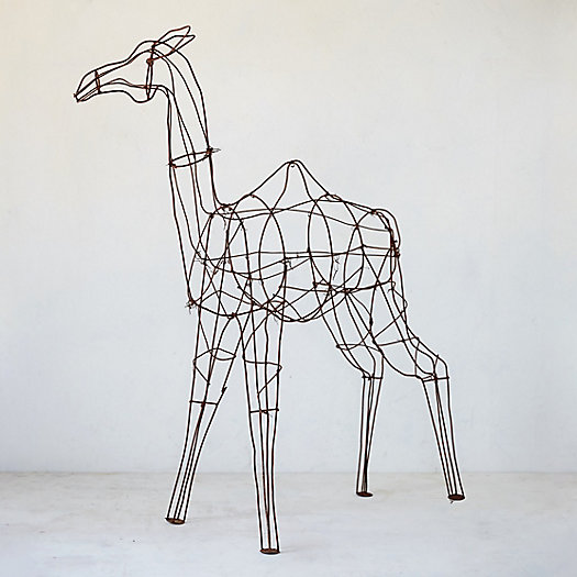 Antique Iron Topiary Form, Camel