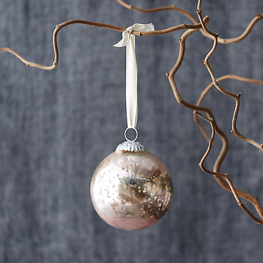 Marbled Metallic Globe Ornament