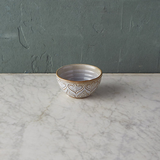 Embossed Terracotta Dip Bowl