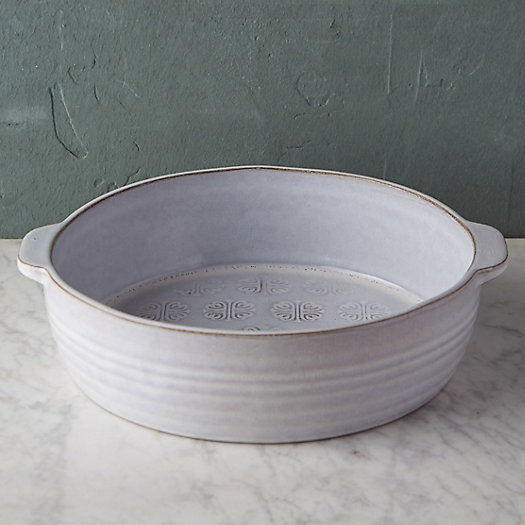 Embossed Terracotta Baking Dish, Large