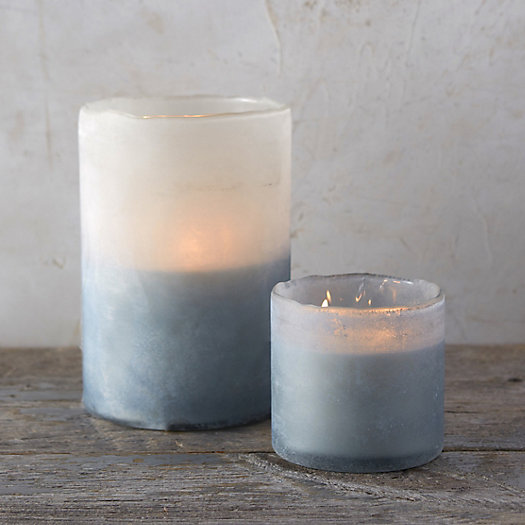 Linnea's Lights Frosted Candle, Cashmere