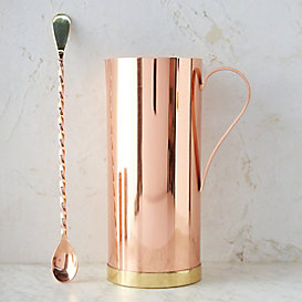 Copper & Brass Pitcher with Spoon