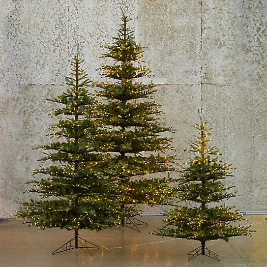 Pre-Lit LED Faux Noble Fir