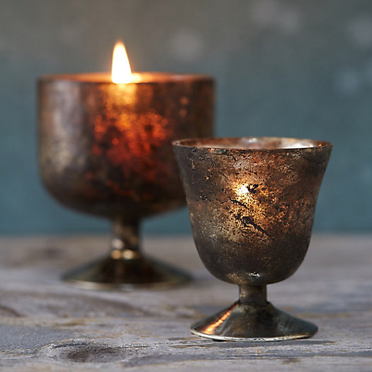 Sanded Mercury Chalice Votive Holder