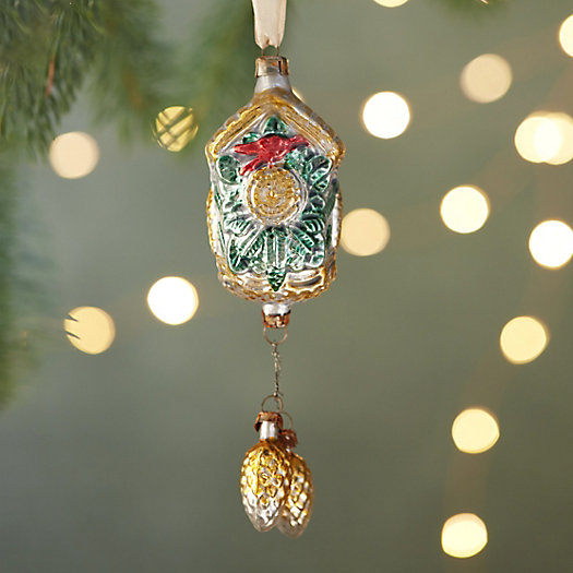 Cuckoo Clock Glass Ornament
