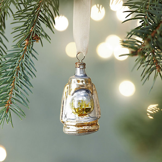 Oil Lamp Glass Ornament