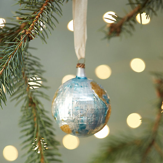 Around the World Glass Ornament