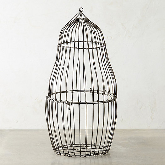 Steel Bird Cage Planter