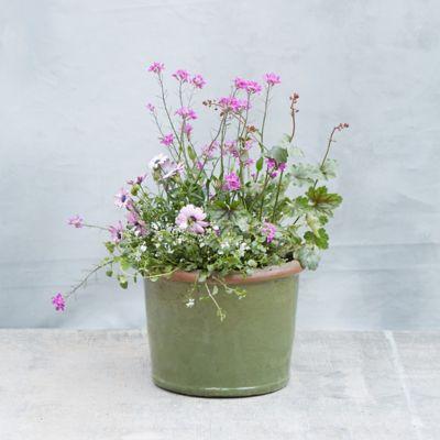 Glazed Stoneware Taper Pot
