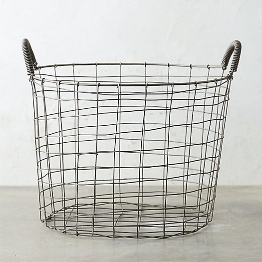 Two Handle Steel Wire Basket