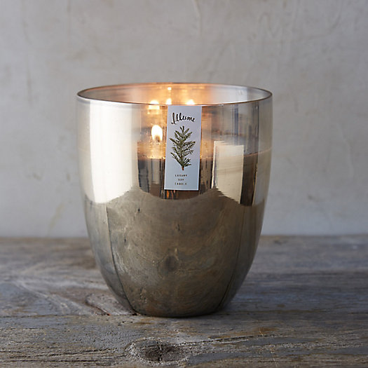 Silver Glass Candle, Balsam & Cedar
