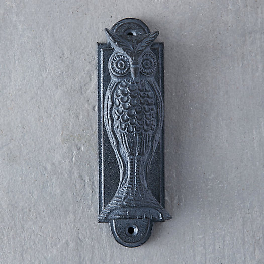Iron Owl Door Knocker