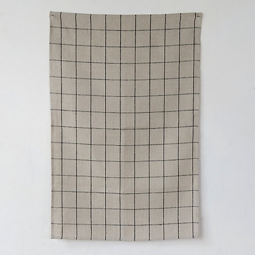 Linen Checked Tea Towel
