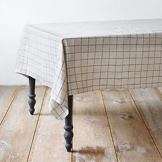 Linen Checked Tablecloth