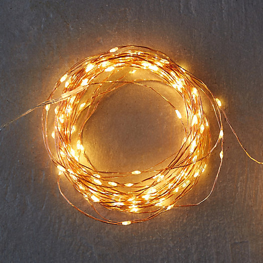 Stargazer Copper Twine Lights, 100' Plug-In