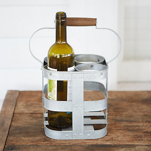 Zinc Wine Caddy