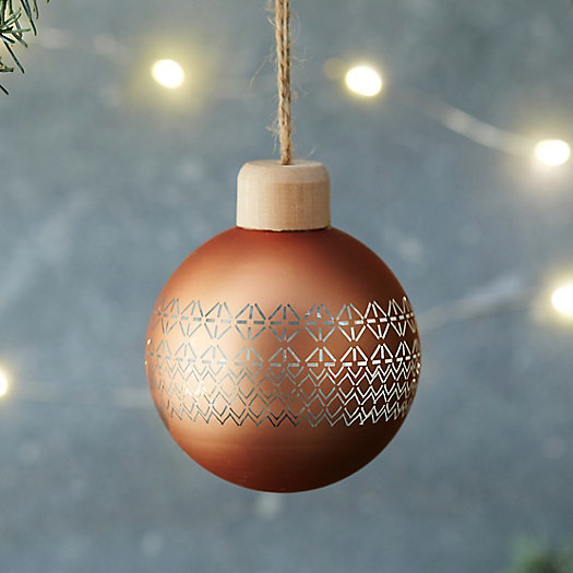 Fair Isle Globe Ornament