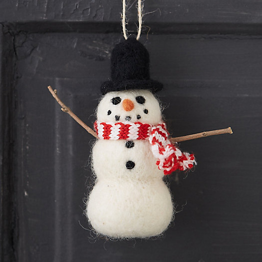 Woolly Snowman Ornament