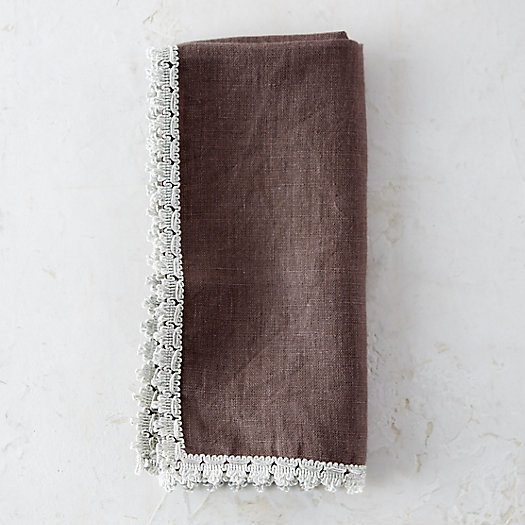 Metallic Crochet Edge Napkin