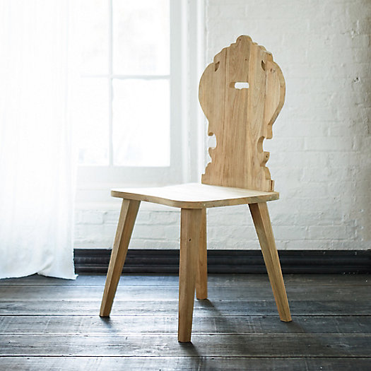 Carved Teak Folk Dining Chair, Amira