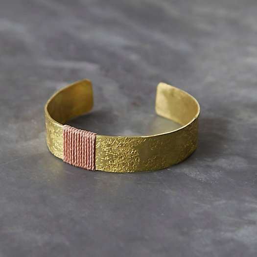Earth Linen & Brass Cuff