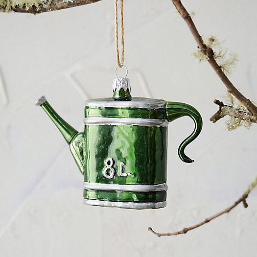 Watering Can Glass Ornament
