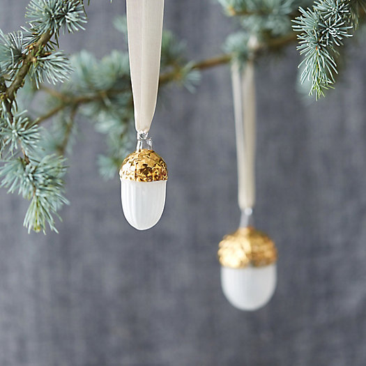 Golden Acorn Ornament