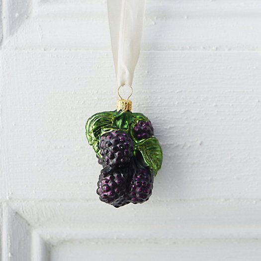 Glass Garden Raspberry Ornament