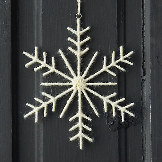 Woolen Snowflake Ornament, Large