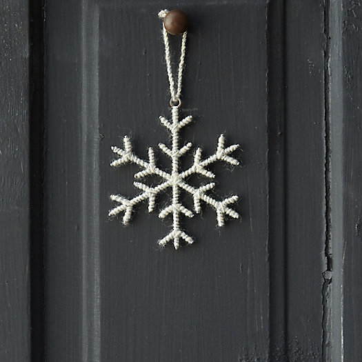 Woolen Snowflake Ornament, Small