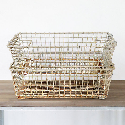 Antique Zinc Oyster Basket
