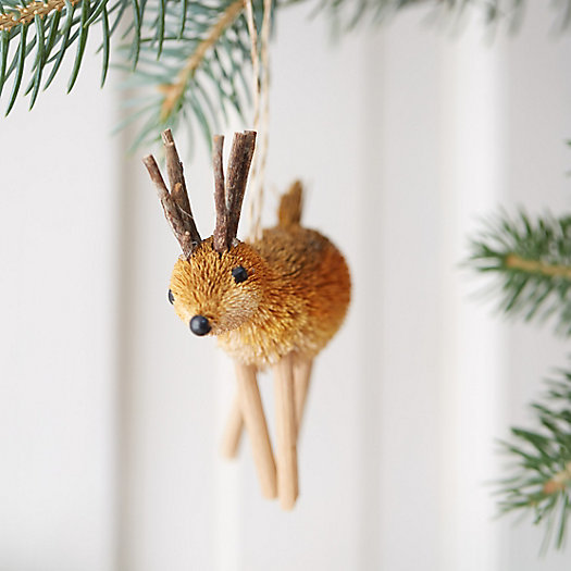 Brushy Deer Ornament