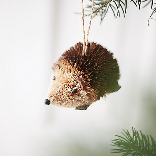 Brushy Hedgehog Ornament