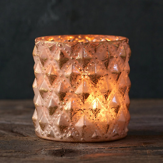 Foiled Diamond Votive Holder