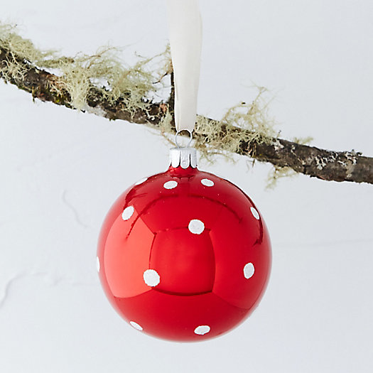Polka Dot Glass Ornament