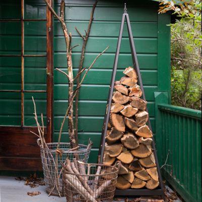 Iron Pyramid Log Holder