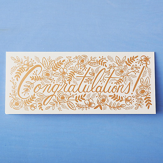 Golden Congrats Card