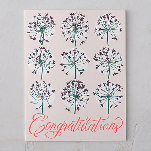 Allium Congratulations Card