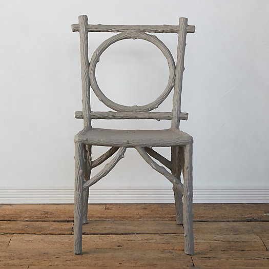 Faux Bois Circle Chair