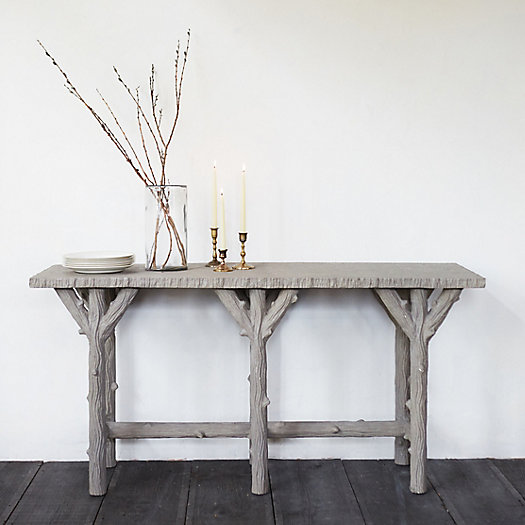 Faux bois console table terrain - Table console bois ...