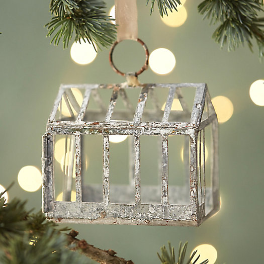 Zinc Greenhouse Ornament
