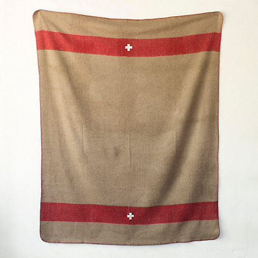Swiss Cross Wool Throw