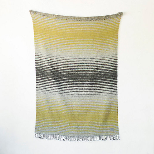 Ombre Stripe Wool Throw