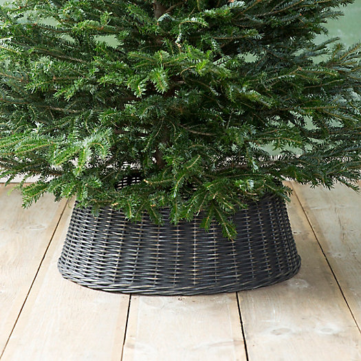 Wicker Basket Tree Skirt, Black
